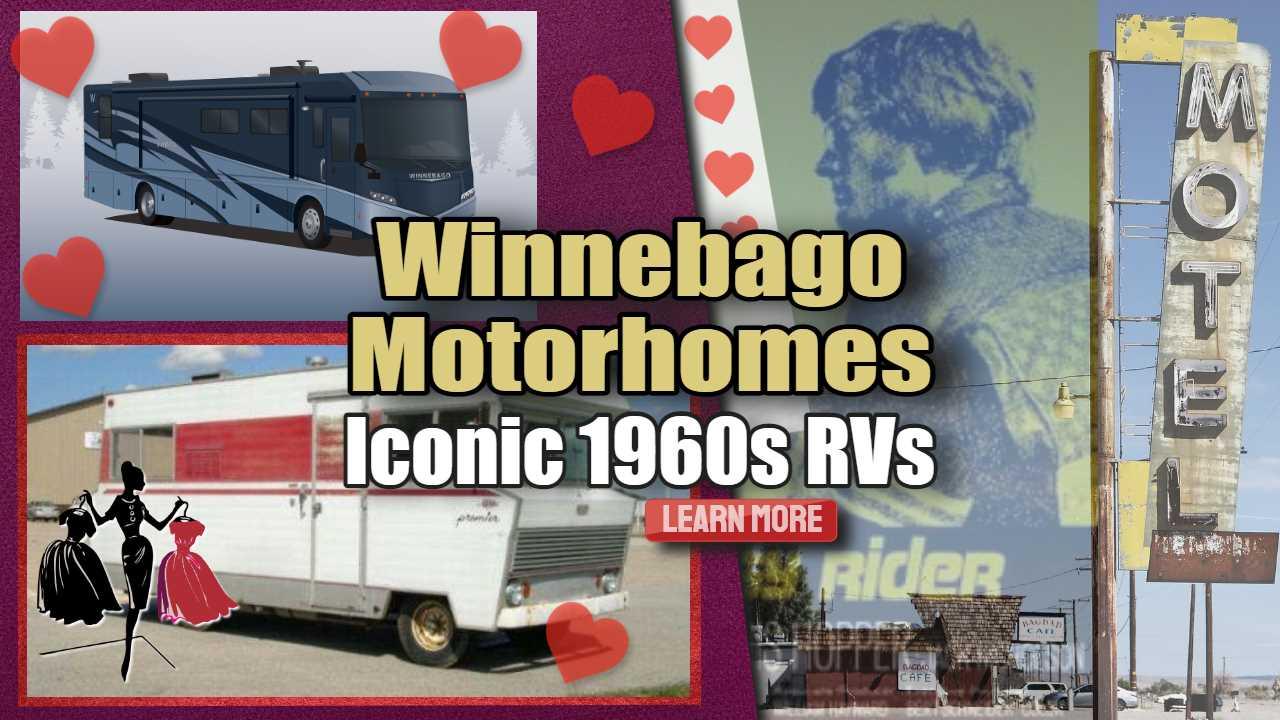 "Featured image text: ""Winnebago Motorhomes Iconic 1960s RVs""."