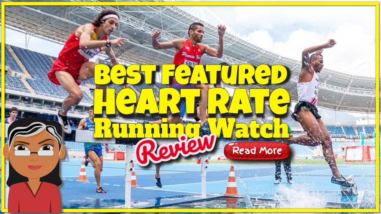"""Featured image text: """"Heart rate running watch review""""."""